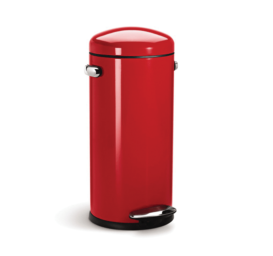 alva-30l-retro-step-can-red-by-simple-human-10-year-warranty-cw1262