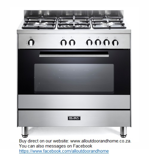 elba-classic-80cm-full-gas-cooker-85cx822n	-5-gas-burners--1-triple-ring-burner
