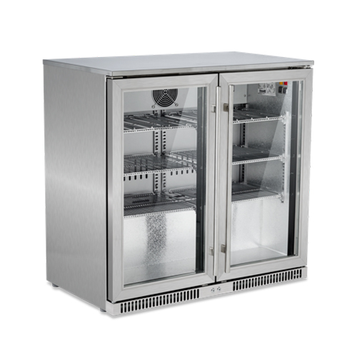 snomaster-sd220ss-stainless-steel-two-door-alfresco-beverage-cooler-size-870-w-x-500-d-x-850-h-capacity-220-litres