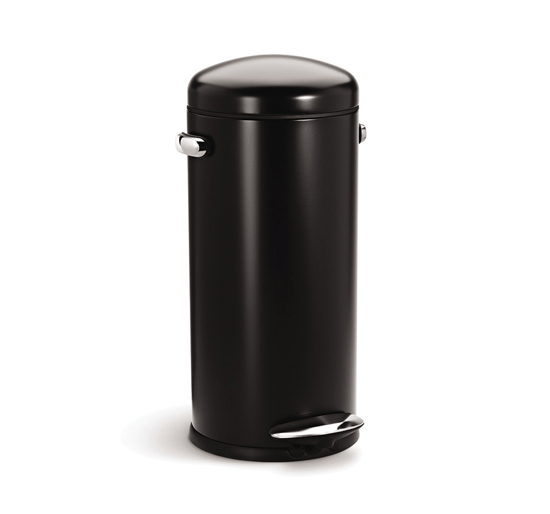 alva-30l-retro-step-can-black-by-simple-human-10-year-warranty-cw1258