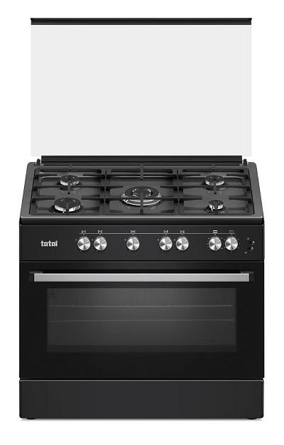 totai-90cm-black-stove-5-gas-burner--electric-oven-t800eb--free-courier