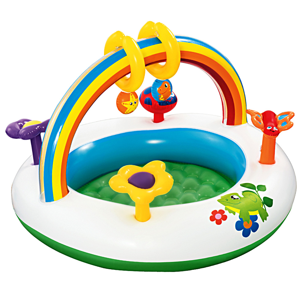 bestway-inflatable-play-kids-pool-child-activity-gym-centre-rainbow-go-and-grow-52239