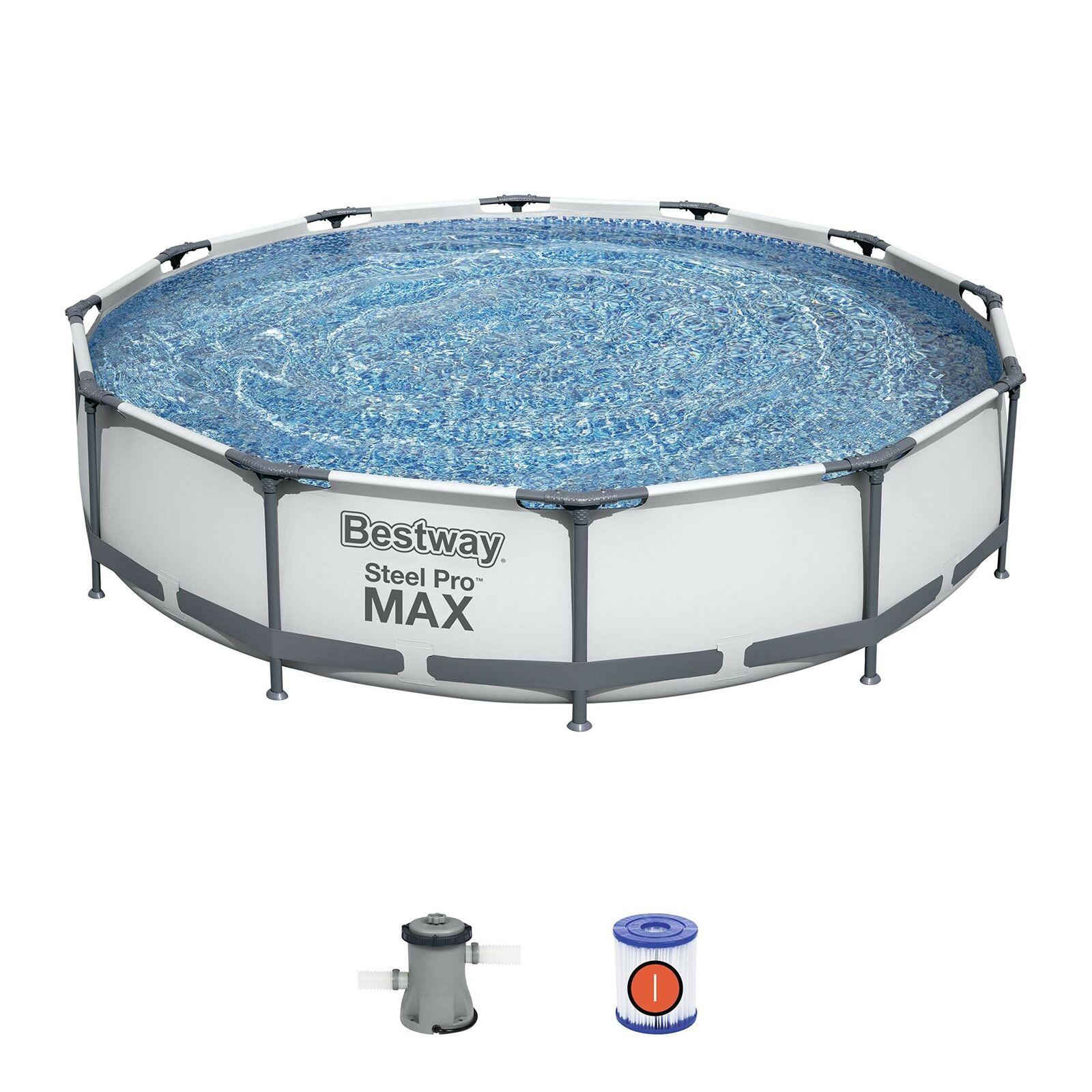 bestway-56416-366cm-x-76cm-steel-frame-swimming-pool-set