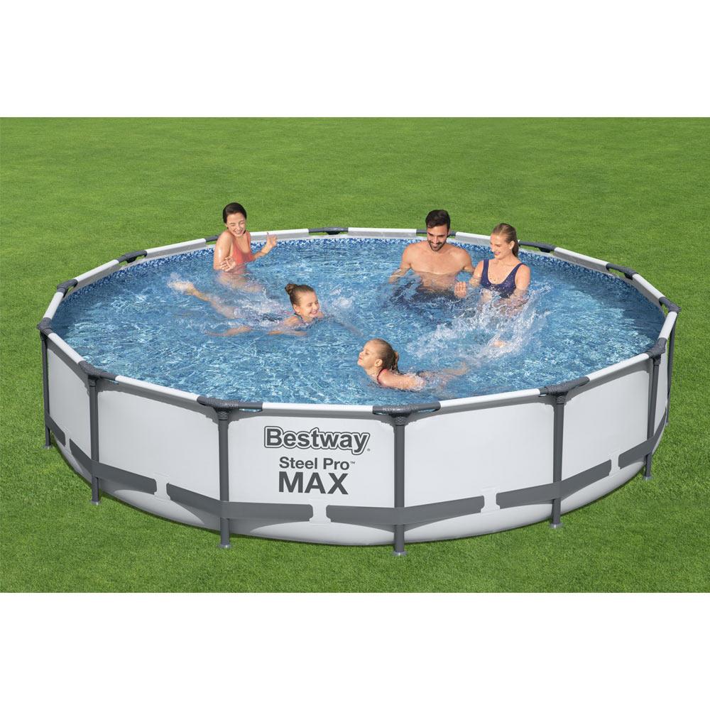 bestway-56595-round-frame-pool-427cm-x-84cm-grey