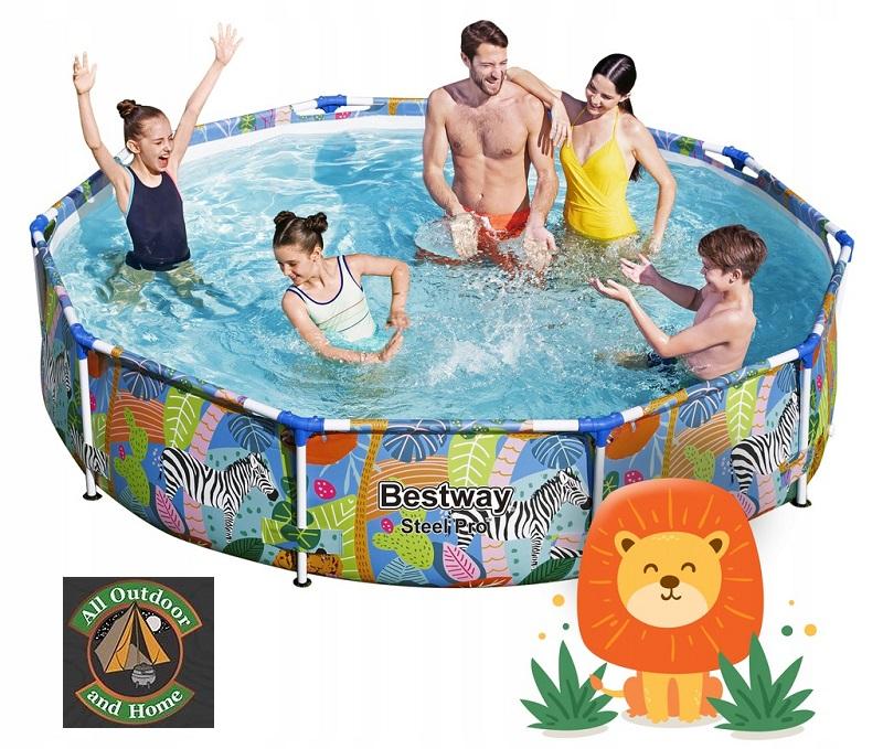 bestway-305m-x-66cmsteel-pro-frame-pool--wild-print-56985
