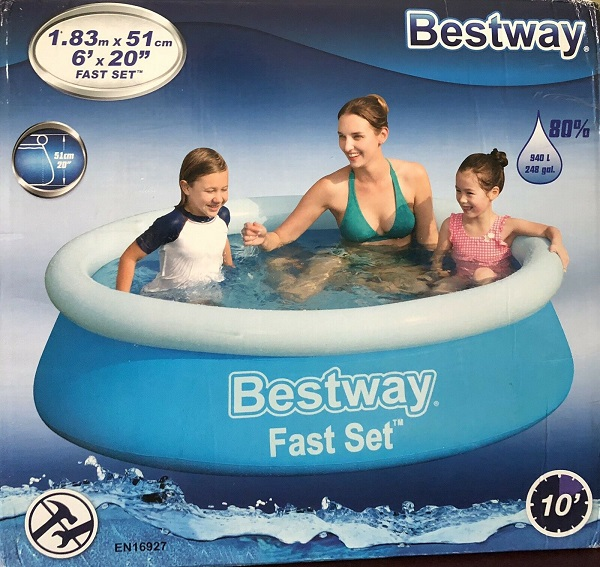 bestway-183m-x-51cm-fast-set-pool-1100l-no-pump-&amp-filter-57392