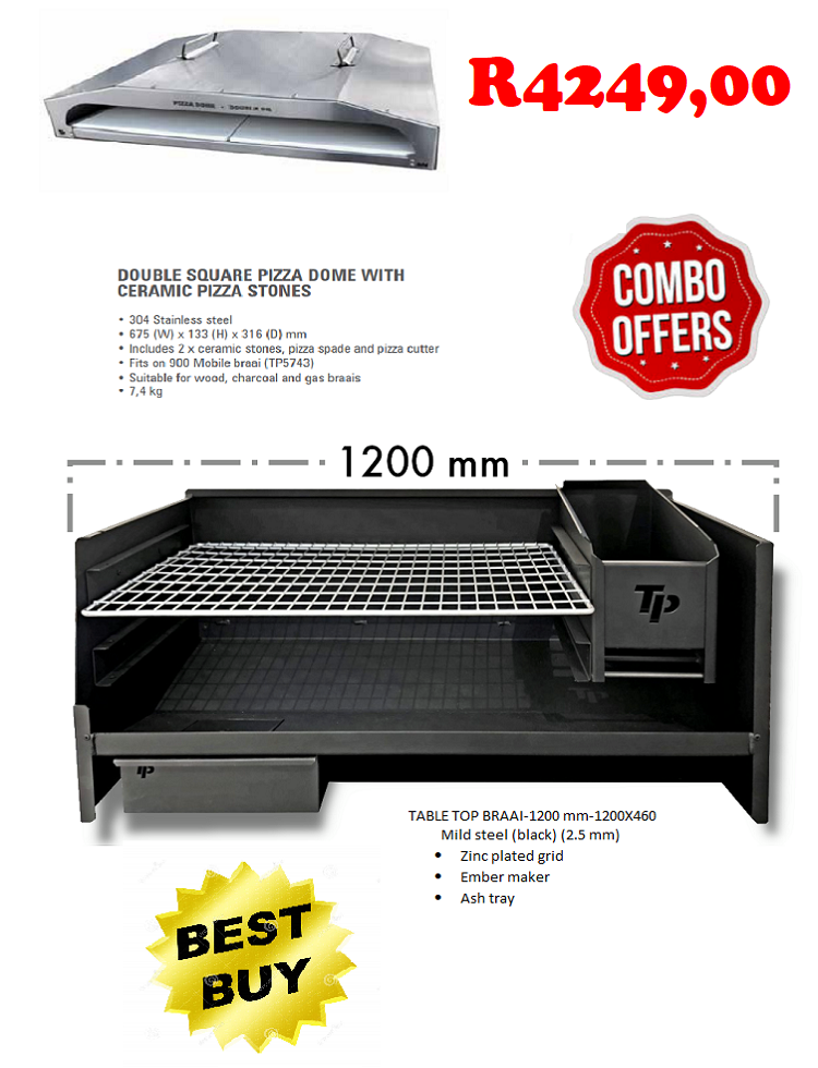 2-in-1-combo--table-top-braai-1200-mm--double-square-pizza-dome-with-ceramic-pizza-stones