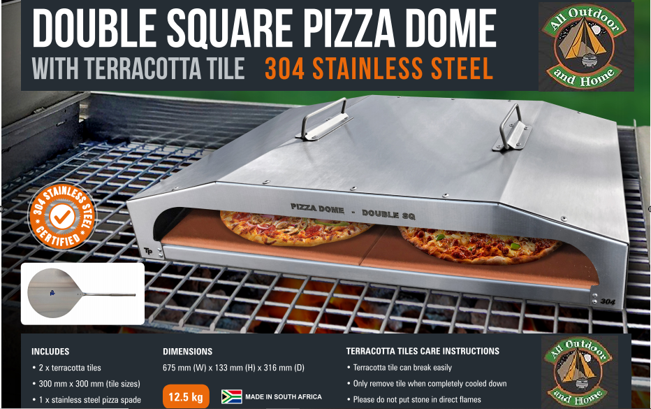 tp-pizza-braai-dome--double-pizza-oven-with-terracotta-stone-courier-r200-throughout-sa