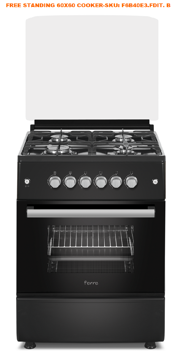 ferre-4-burner-gas-stove-with-electric-oven-turnspit-&amp-ffd-60x60-&ndash-black-f6b40e3fditb-rrp-r574300