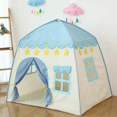 kids-play-flower-castle-tent-&ndash-blue