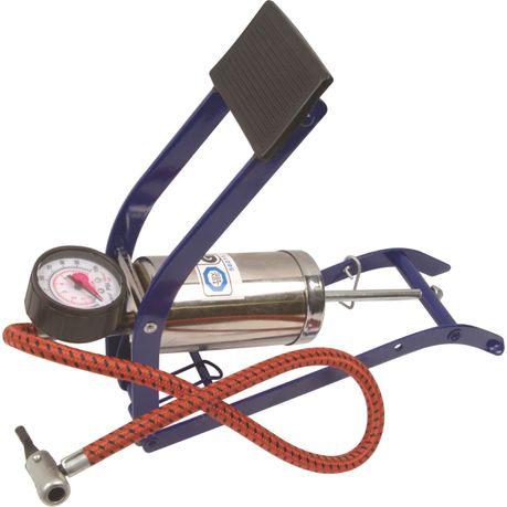 moto-quip--chrome-single-cylinder-footpump-&amp-gauge-mq7205