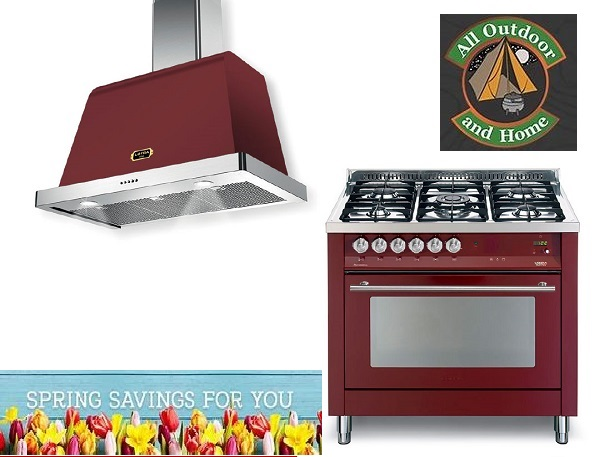 red-lofra-90cm-gaselectric-professional-&amp-rainbow-cooker--dolcevita-cooker-hoods-colonial-style-combo